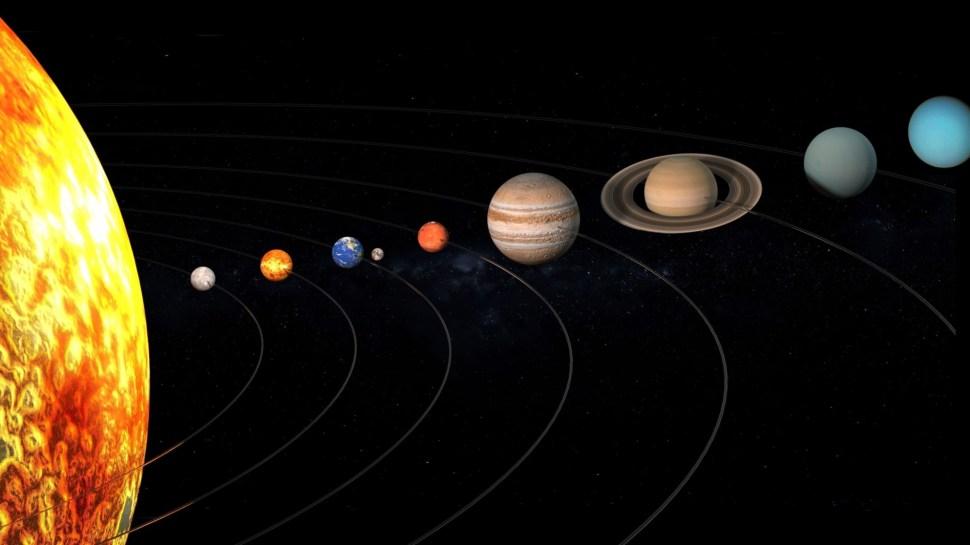 المجموعة الشمسية عائلة الشمس التي تسبح في فلكها
